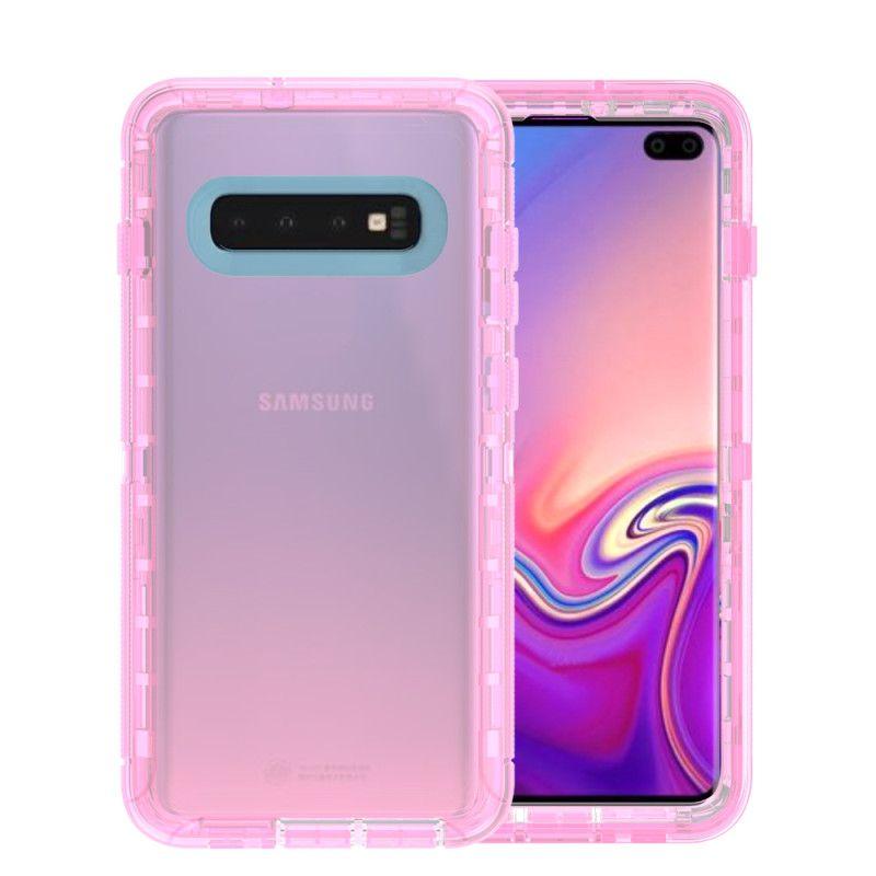 Для Samsung Galaxy S10 S10E S10 плюс 3 в 1 Ясные гибридные чехлы Броня Прозрачные роботы