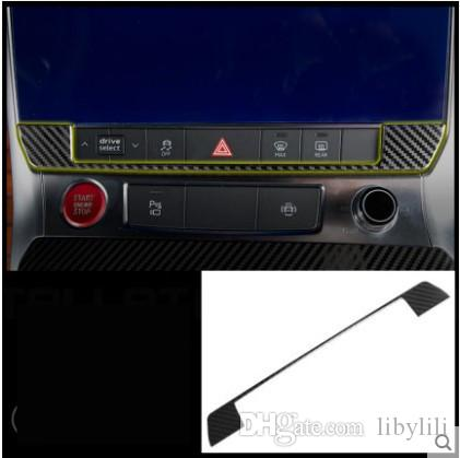 Audi A6 C8 2019 Araba Şekillendirme Merkezi Konsol Düğmesi Anahtarı Paneli Kapak Trim Çerçeve Sticker İç Aksesuar