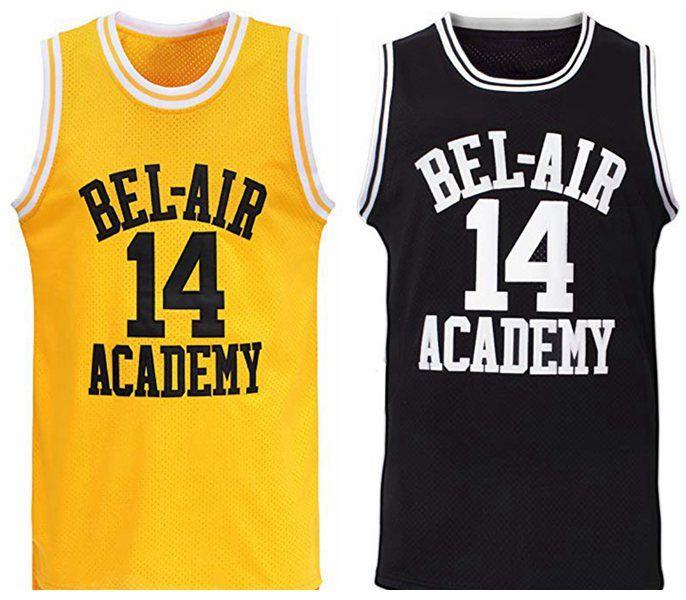 Envío de nosotros Will Smith # 14 El Príncipe de Bel Air Academy Película Jersey Hombres Baloncesto Todo cosido S-3XL de alta calidad