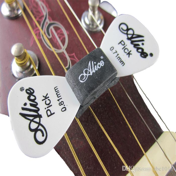 Alice Black Rubber Guitar Headstock Pick plectrum Holder