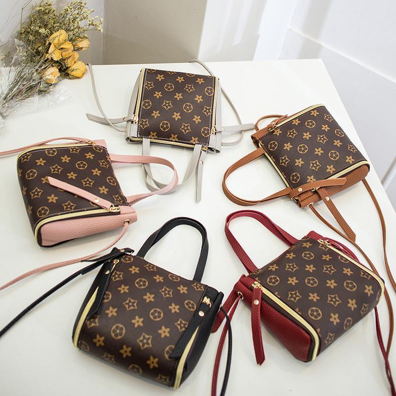 Frauen Art und Weise Handtasche PU-Schulter-Beutel-Buchstabe-Druck Umhängetasche Messager Totes Taschen Outdoor-Reise-Entwurf Handtaschen Mädchen-Telefon-Beutel-Tasche