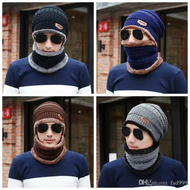 Laine et les hommes et les femmes chapeau tas hiver loisir Nerk borgnes deux pièces équitation voiture électrique pour garder bonnet de tricot chaud