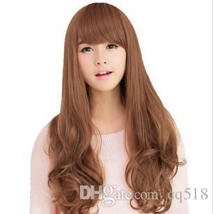WIG LL NEW COS Free Shipping >>>WIG LL Long Curly Wave Brown Wig Women's Lolita Hair Full Wigs Cospaly Party
