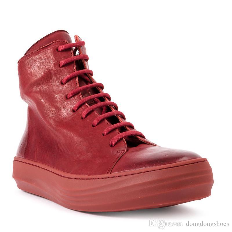 2019 العلامة التجارية الجديدة مصمم الرجال جودة عالية البروغ حذاء أيرلندي جلد البقر الحقيقي اللون الأحذية والجلود حجم بيضاء اللون الأحمر 38-44