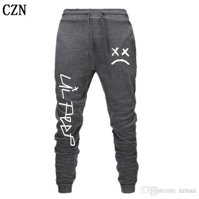 Envío gratuito Lil pío Pantalones Hip Hop Loose pantalón Hombres / Mujeres gimnasios pantalones pantalones casuales pantalones del basculador del basculador EL-3