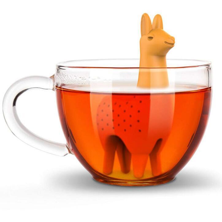 DHL del silicone Tè Infuser animale Forma colino da tè filtro riutilizzabile Tea Diffusore sfera Drinkware strumento cucina di casa accessorio