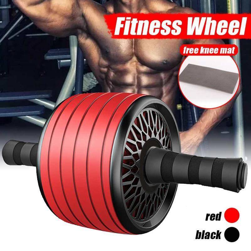 ABS Abdominal Roller Exercise Wheel Fitness Equipment Mute Roller For Arms Back Belly Core Trainer Body Shape Training Supplies