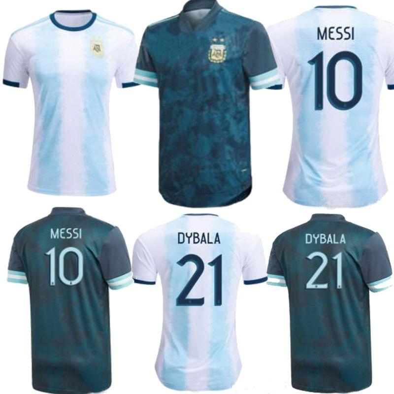 الأرجنتين 86 ريترو مارادونا 2021 الأرجنتين كوبا أمريكا ميسي بيت أزرق رجالي لكرة القدم جيرسي أجويرو إيكاردي لكرة القدم قميص 2020