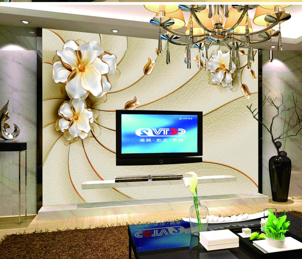 Carta da parati pareti 3D Wallpaper New European goffrato floreale piatto Soggiorno Sfondo decorazione della parete
