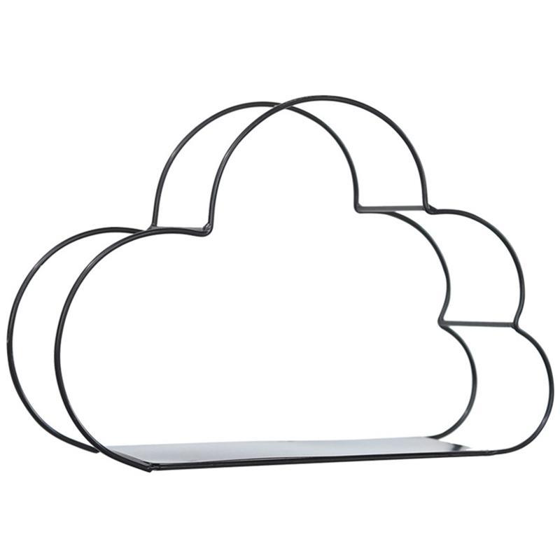 Hierro oro Bastidores de almacenamiento Colgando forma Decoración Caja de almacenamiento Tiesto Nube de almacenamiento en rack Wall libro Figuras de visualización Crafts Estantes