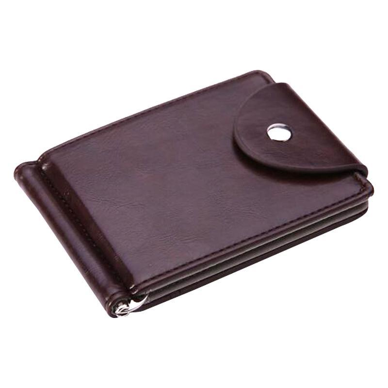 Wholesale- FLAMA Brand Mini Men's leather Money Clip wallet Pocket Purse with clamp Man Slim Bag ID Holder for male