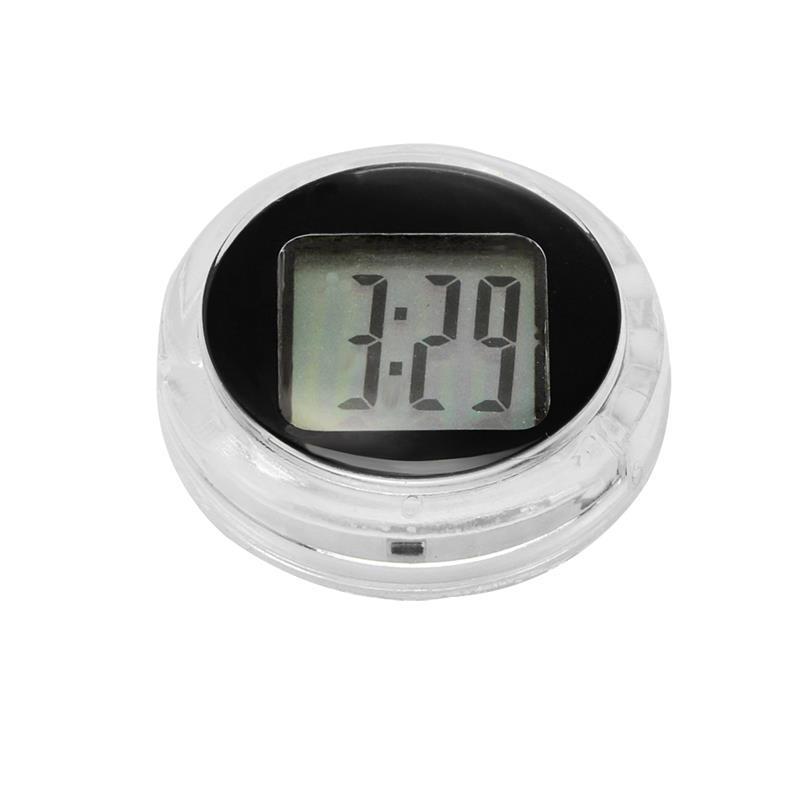 Reloj relojes de precisión nuevo mini motocicleta relojes del reloj impermeable Adhesivo Moto Moto Monte reloj digital con cronómetro