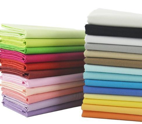 Хлопчатобумажные Ткани 25 Твердых Цветов Пакеты Жира Четверть Метра Домашний Текстиль Для Постельных Принадлежностей Лоскутное Лоскутное Ремесло Одежда