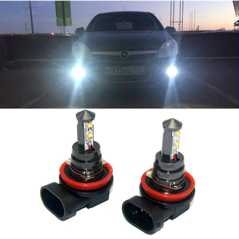2x H11 H8 LED Car fog lights bulb For Corsa Insignia Astra Antara Meriva Zafira Accessories