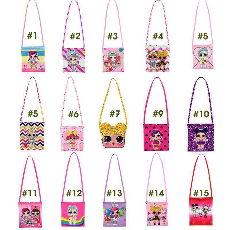 소녀 선물 WD951110 도매 새로운 LOL 만화 키즈 가방 여자 싱글 숄더 백 기울기 버튼 가방 디자이너 명품 핸드백 지갑