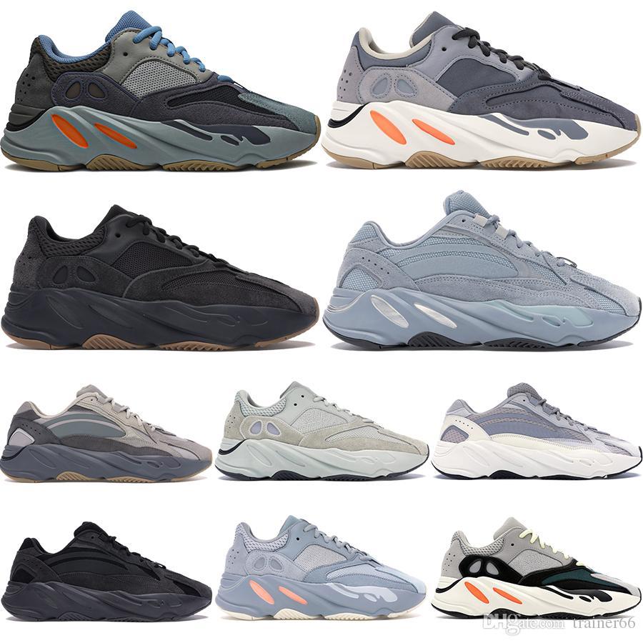 Kanye Wave runner 700 reflective mens running shoes Carbon Blue magnet inertia static Utility Black salt men women designer sneakers 5-11.5