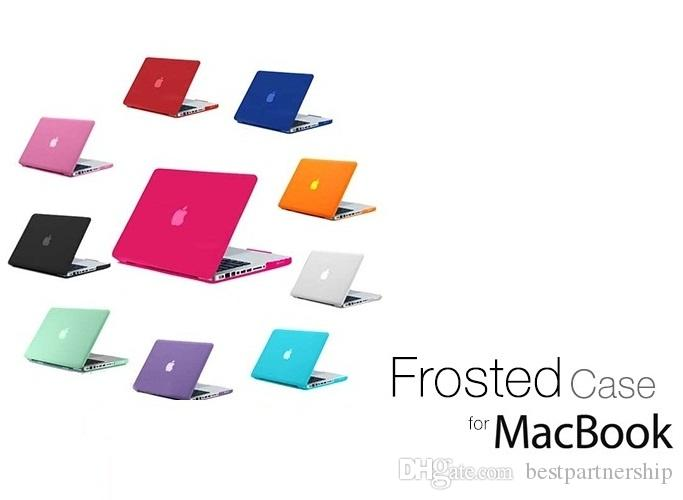 Frosted Matte Hard Case for MacBook air pro retina 11 12 13 inch Front Back Full Body laptop Case Shell Cover A1369 A1466 A1708 A1278 A1465