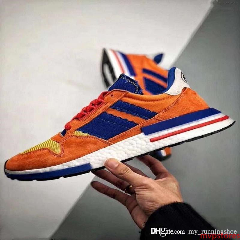 2019 yeni Dragon topu ZX 500 RM SON Goku süet spor koşu ayakkabıları yüksek kalite erkekler Wome zx500 Sneakers atsneaker eğitmenler Koşu 36-44