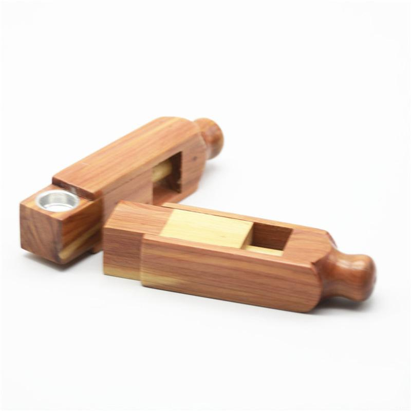 Natural Wooden Telescopic Portable Smoking Filter Tube Dry Herb Tobacco Bowl Innovative Design Handpipe High Quality Pipes DHL Free