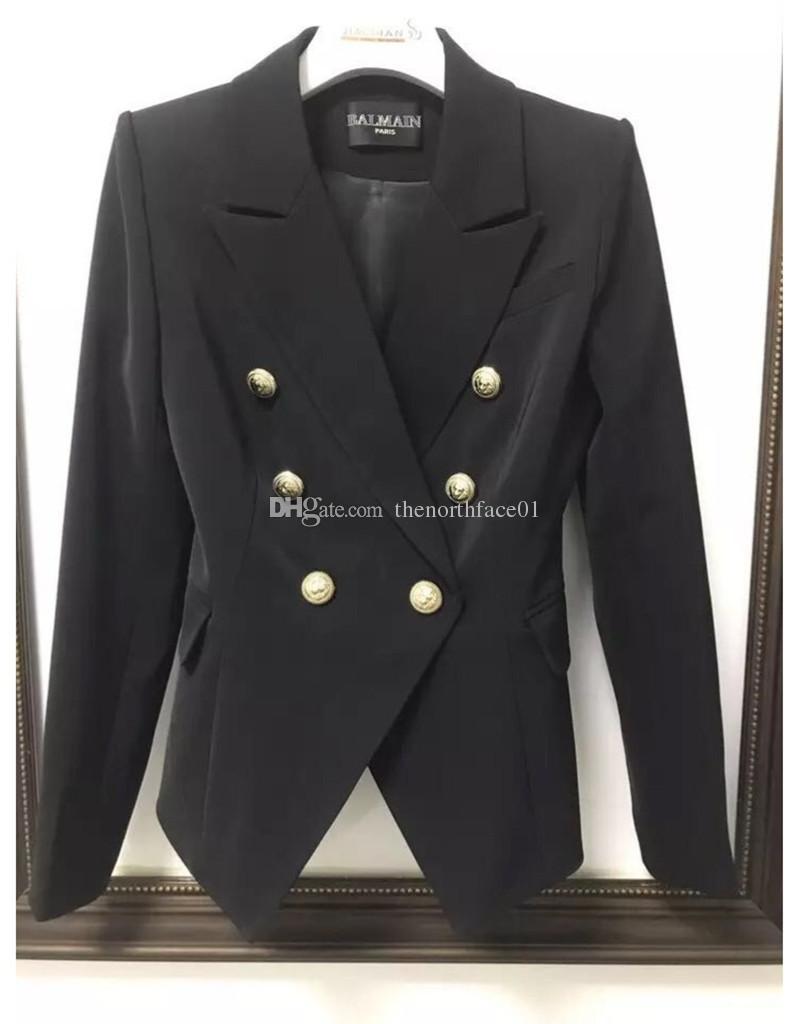 Balmain Roupas Femininas Blazers alta qualidade Womens Suits Brasão de alta qualidade das mulheres do estilista Vestuário Jacket Tamanho S-XL