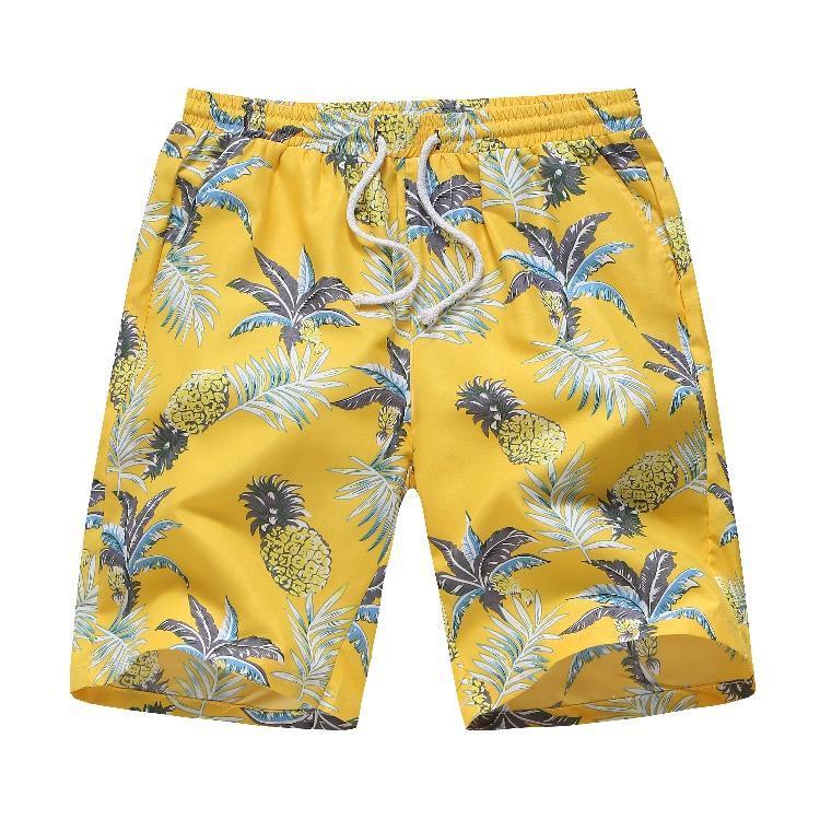 Hawaiian Style Beach Shorts Floral Vêtements pour hommes - Été - Pantalons courts en vrac Hommes - Nouveau Surf Shorts pour