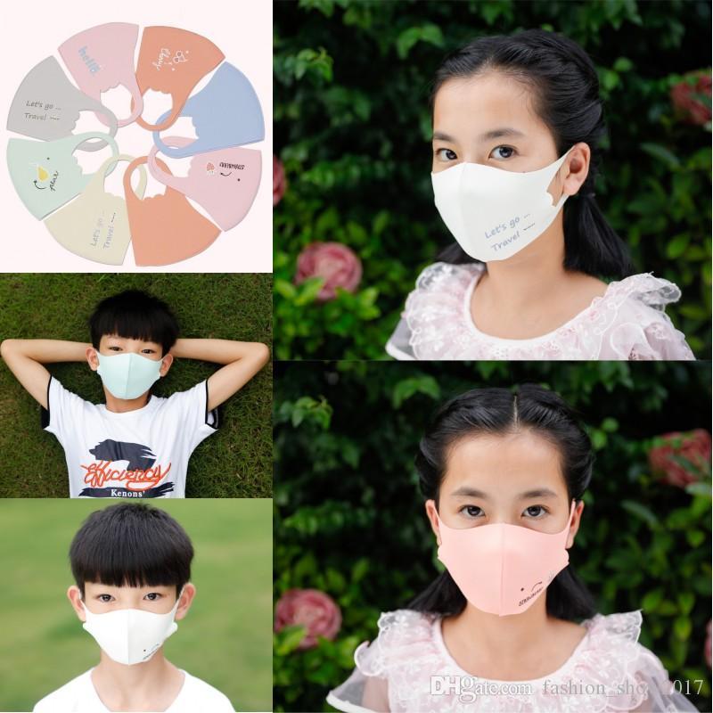 أقنعة مل 3pcs / الكثير الطفل الخريف والشتاء سميكة الحرير الثلج تنفس قابل للغسل الكرتون دافئ ضد الغبار غطاء الوجه