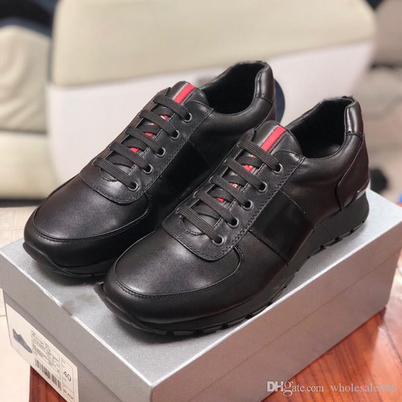 Heißes Geld Designermarke Mens beiläufige Schuhe der hochwertigen Männer echte Leder-Männer Mode Schuhe Leder Einlegesohlen Größe 38 ~ 46