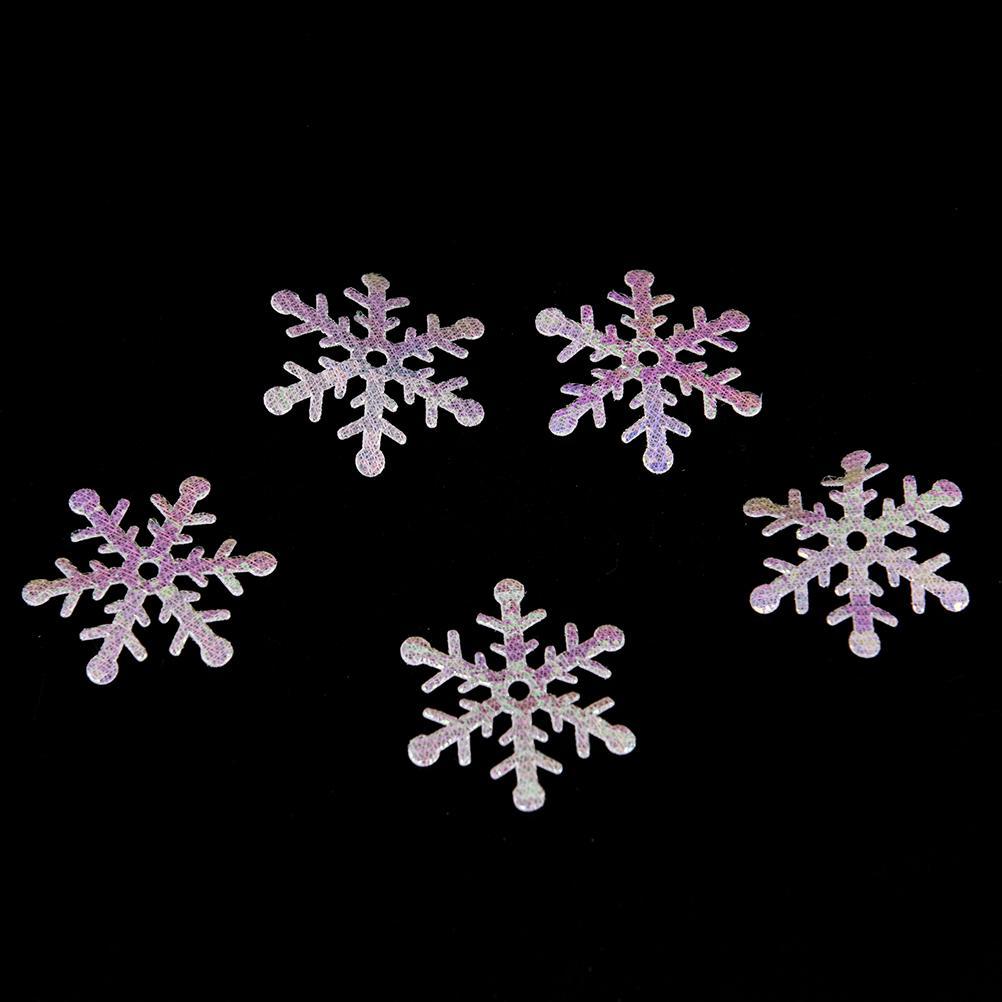 300PCS / Pack-1.5cm / 2cm / 3cm weiße Schneeflocken, Winter-Hochzeits-Tabellen-Party Weihnachtsdekoration Fluffy Snowflake Confetti