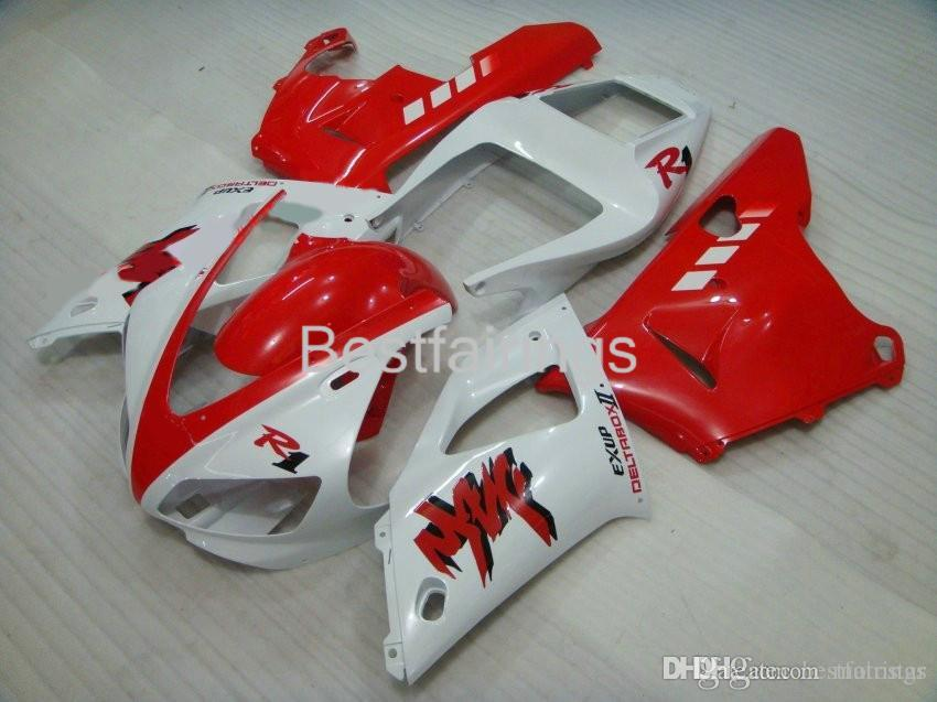 ZXMOTOR 7gifts fairing kit for YAMAHA R1 1998 1999 red white fairings YZF R1 98 99 VC25