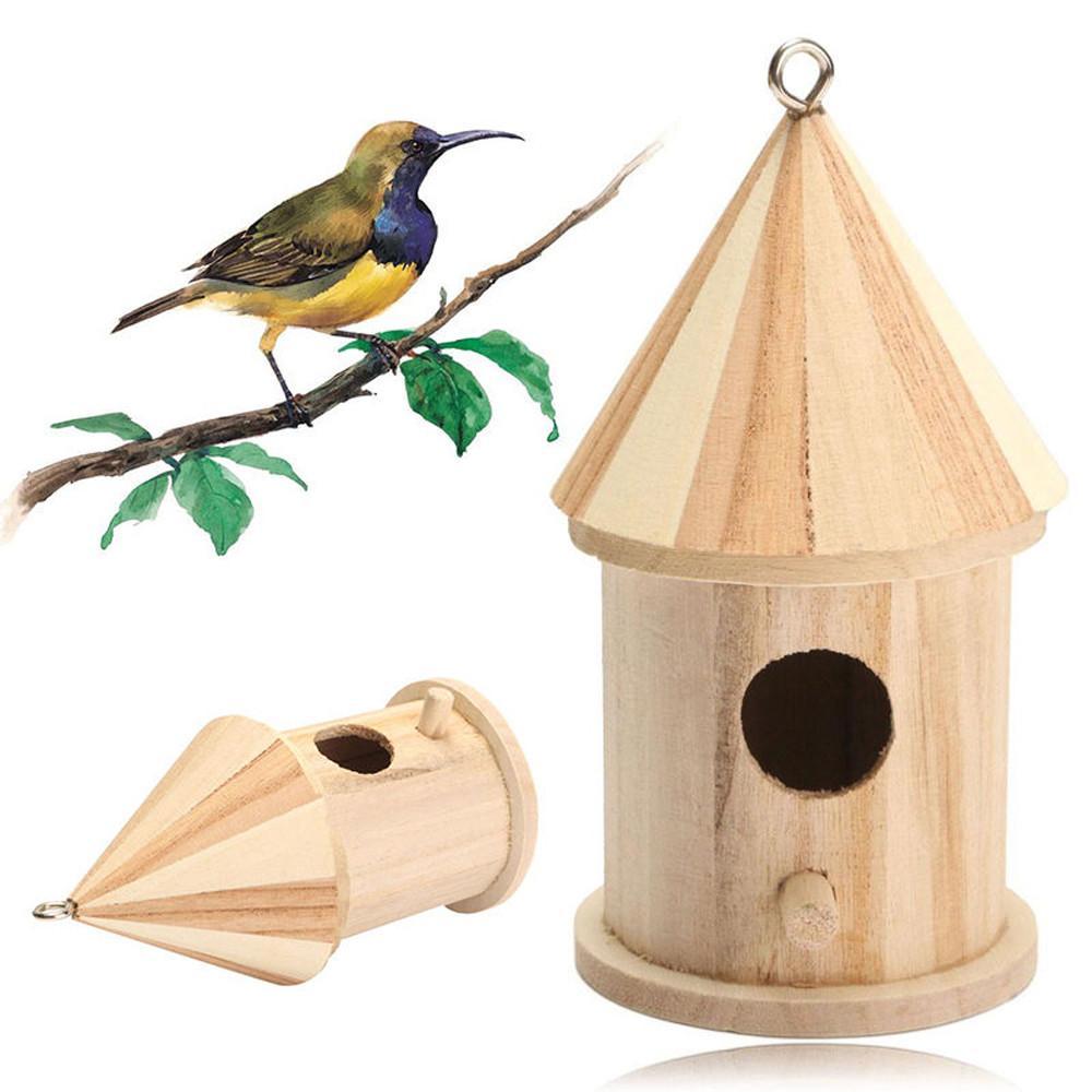 30# Птичий дом деревянные подвесные скворечники с петлей для украшения дома сада двора скворечники аксессуары для домашних животных