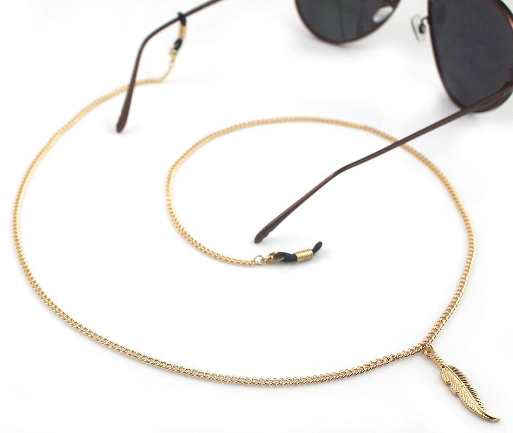 staffa catena d'oro in metallo piuma occhiali corda eyewear 10 Piece