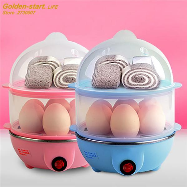 New Household 220V Electric Egg Steamer Convenient Fast Speed Egg Boiler Double Layers with Egg Holder Steamer
