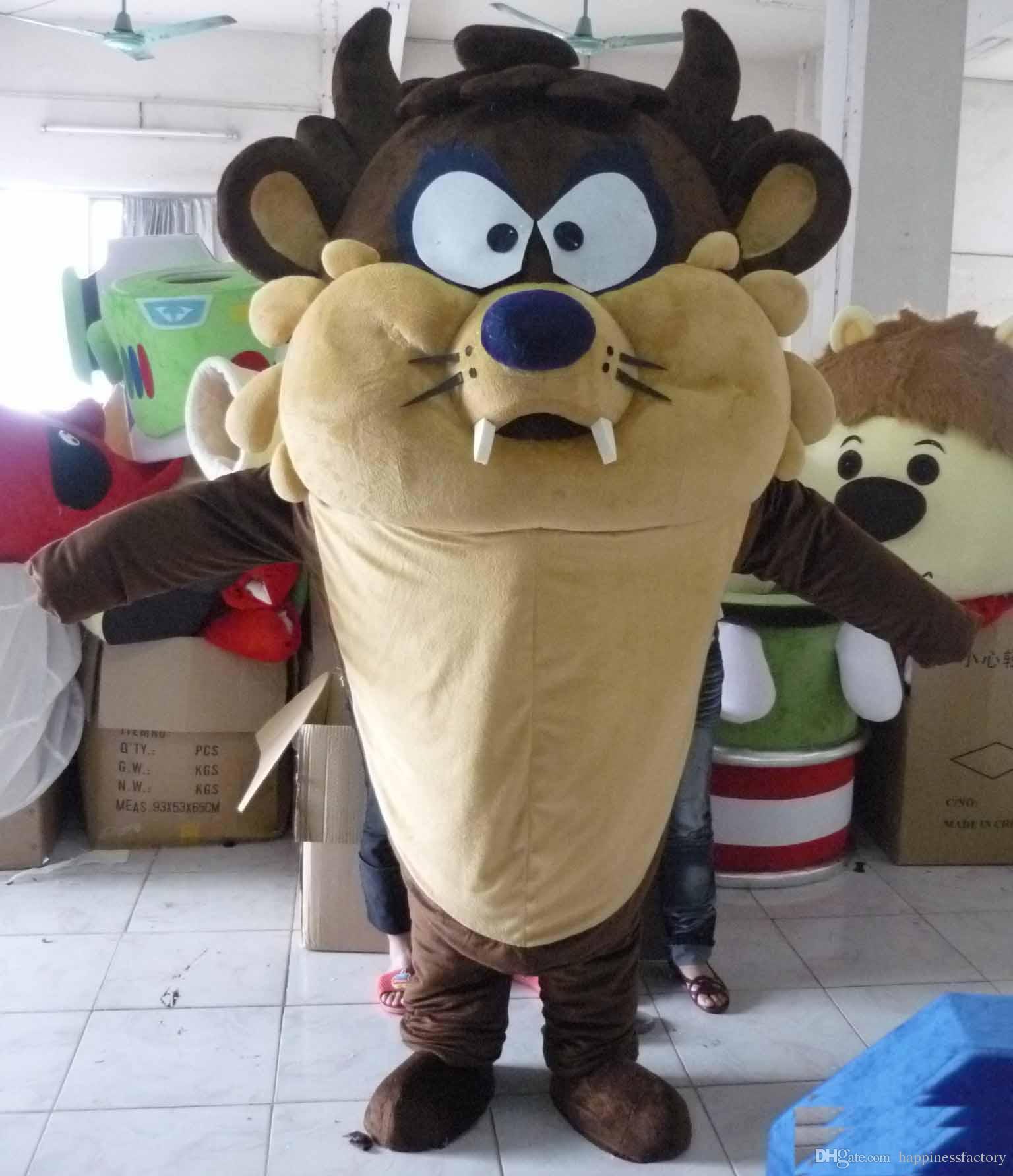 Продажа фабрики скидки 2019 головной костюм талисмана Tasmanian Devil для взрослого, котор нужно носить для продажи