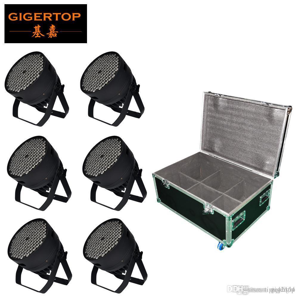 6in1 플라이트 팩 LED 파 조명 따뜻한 화이트 높은 전력 알루미늄 200W 실내 DJ DMX 주도 빔 워시 스트로브 효과 무대 조명 3200K
