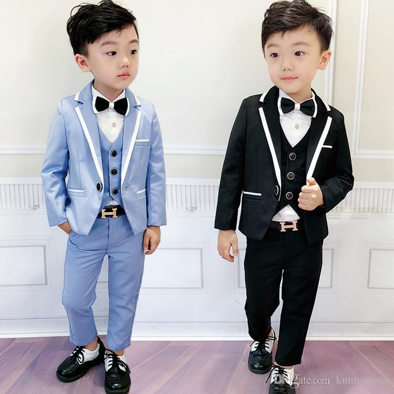 ragazzi scuola abiti slim giacca gilet camicia pantalone 4 pezzi tuta bambino con buona qualità per bambini abiti da sposa costumi ragazzi