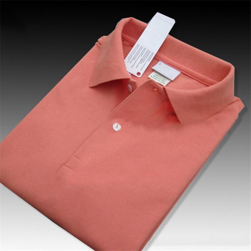 2020 남성 여름 폴로 셔츠 남성 고품질 솔리드 컬러 의류 T 셔츠 자수 폴로 T 셔츠 솔리드 컬러 의류 XS-4XL 탑