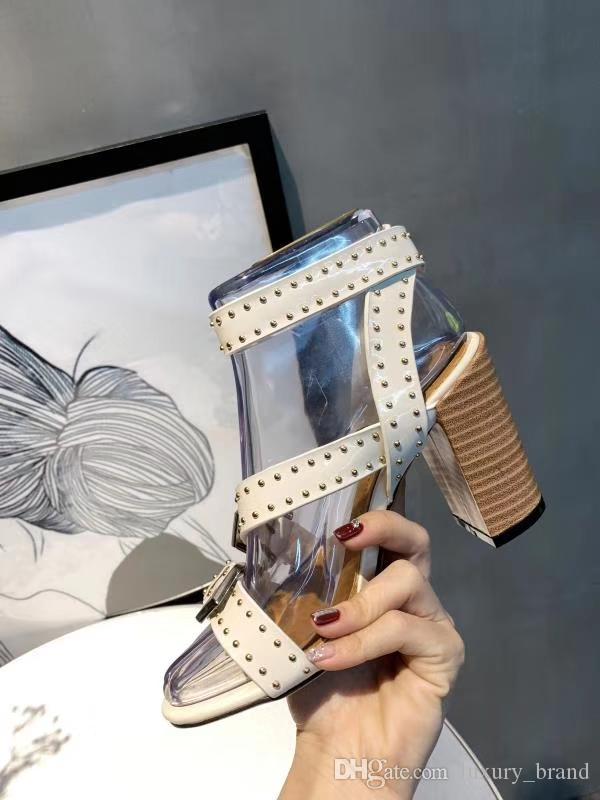 Novo estilo confortável mulheres sandálias fivela robusta sapatos de salto ao ar livre caminhar dedos abertos sandálias sapatos de festa