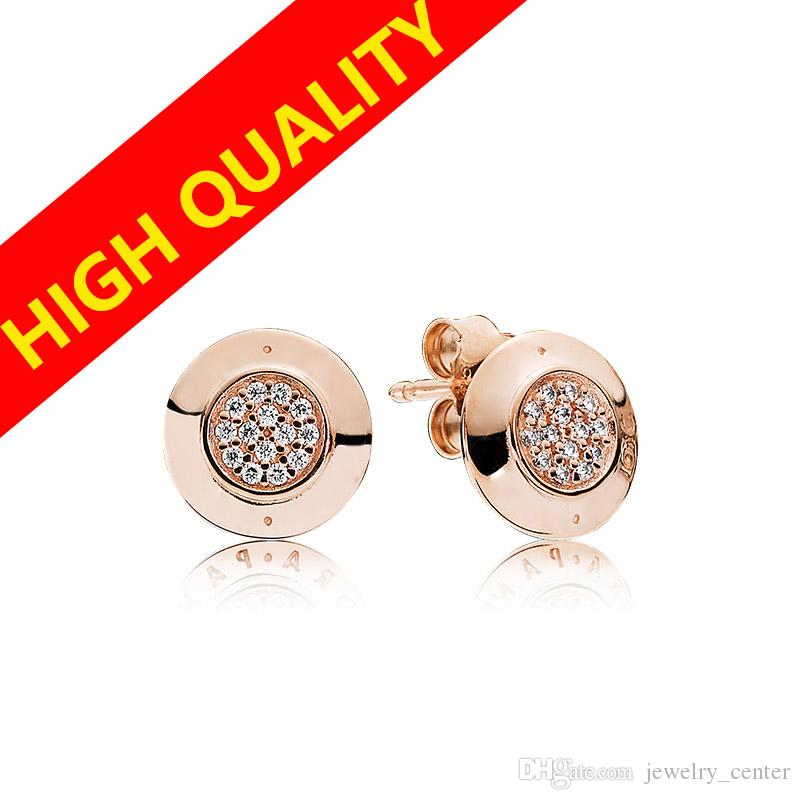 Classical Design 925 Silver Earrings Sets Original Box for Pandora 18k Rose gold Signature Stud Earring Women Luxury Jewelry