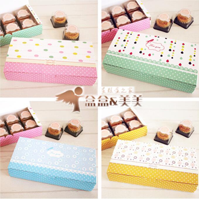 선물 포장 20pcs 8 달 케이크의 곡물 큰 멀티 콜룰러 베이커리 패키지 디저트 캔디 쿠키 케이크 포장 상자 상자 공급 호의