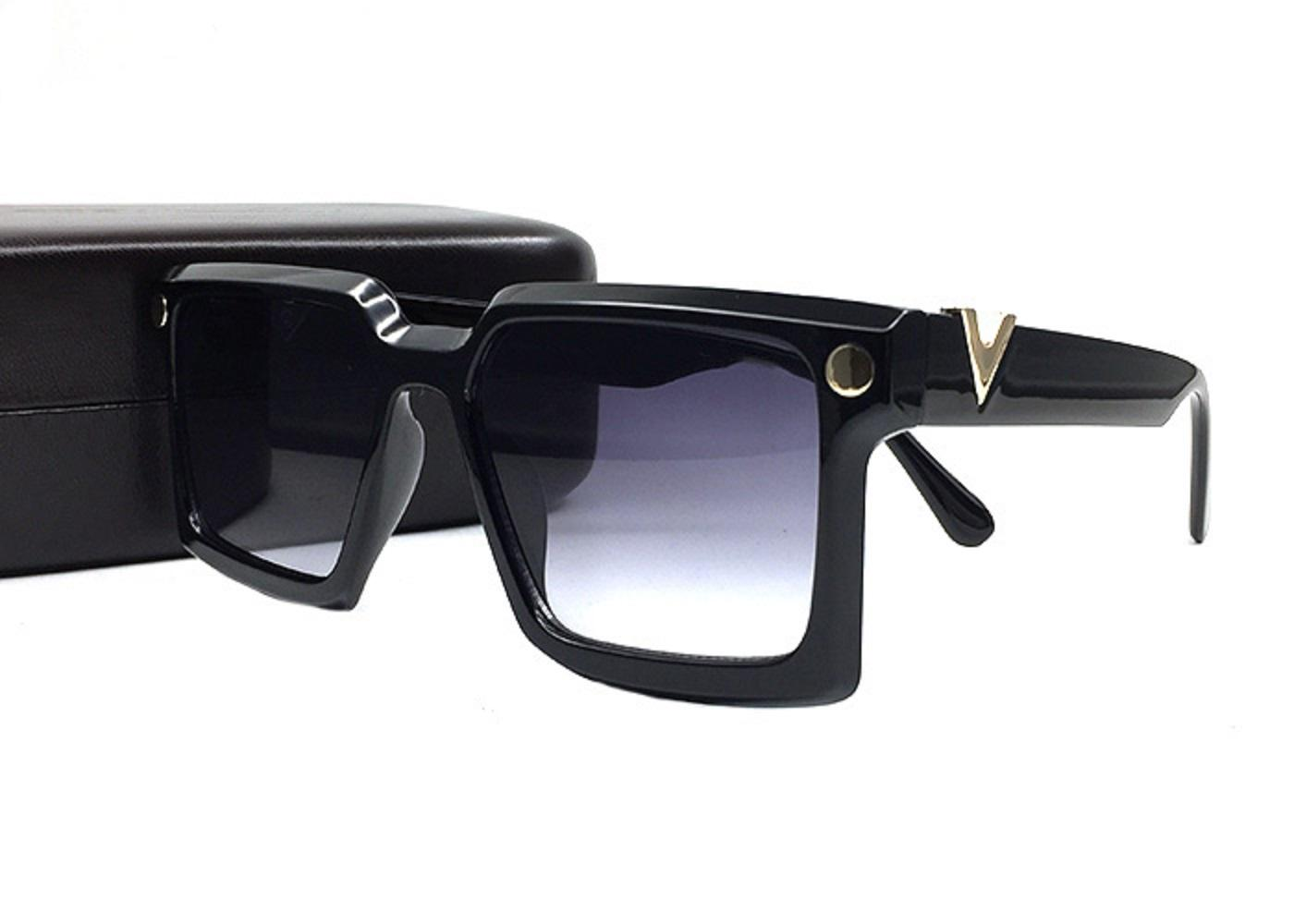 Vintage PC Square Frame Sunglasses Oversized Glasses Outdoor Cycling Shades