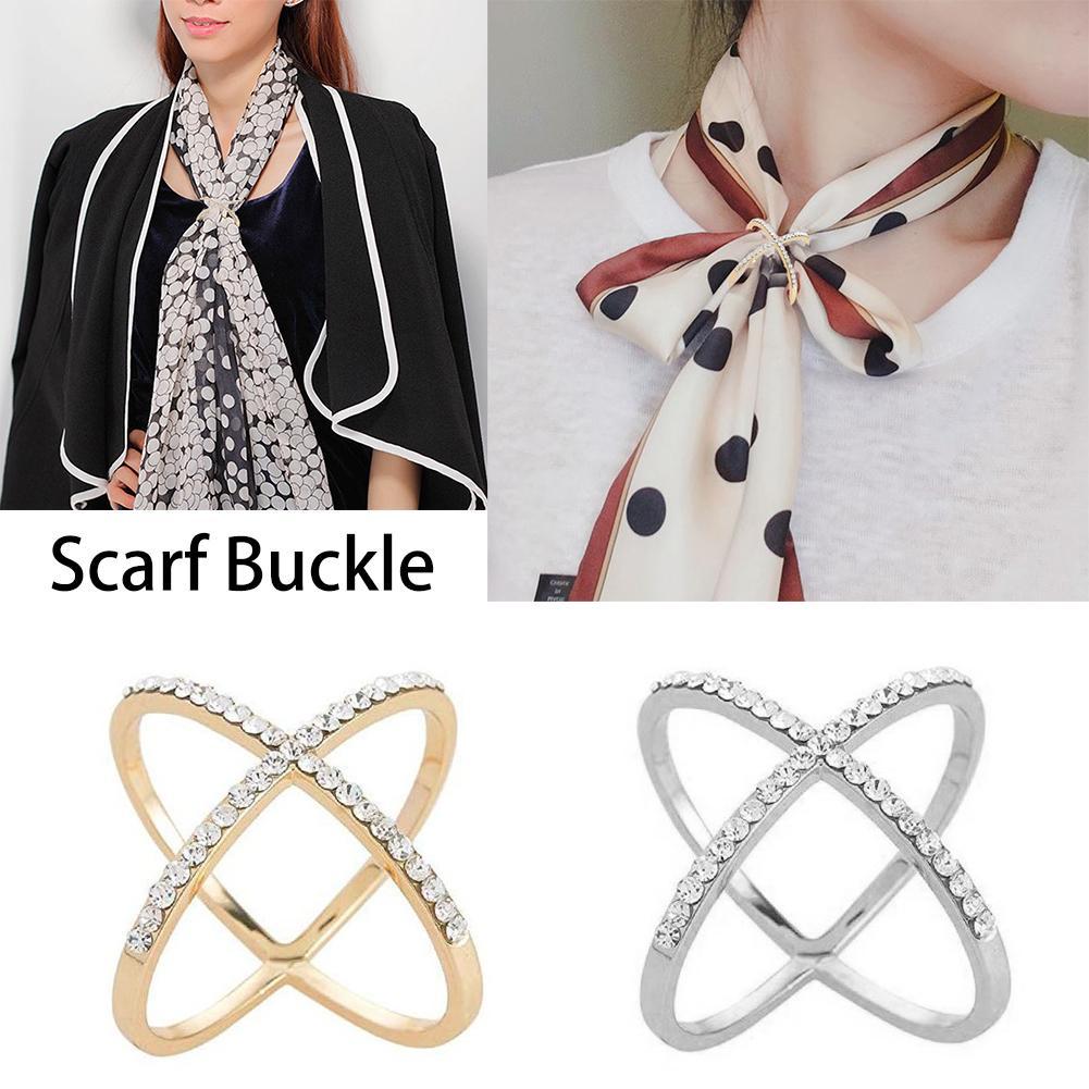 Mode Schal Schnalle Hochzeit Hoop elegante Kristall Intarsien Buckle für Frauen-Silk Schal-Ring Clip Schal Schmuck Geschenke