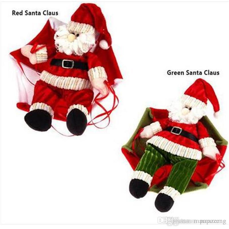 Ventas CALIENTES Papá Noel Navidad Decoración de Techo En Casa Paracaídas Muñeca Colgante Colgante de Juguete Decoración Del Partido Evento Suministros para Fiestas