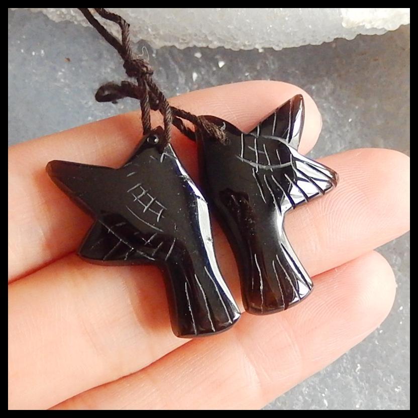 Wholesale obsidian fashion woman Earrings,Charms Women Earrings Jewelry Gift Gem Customized,28x19x4mm,5.3g