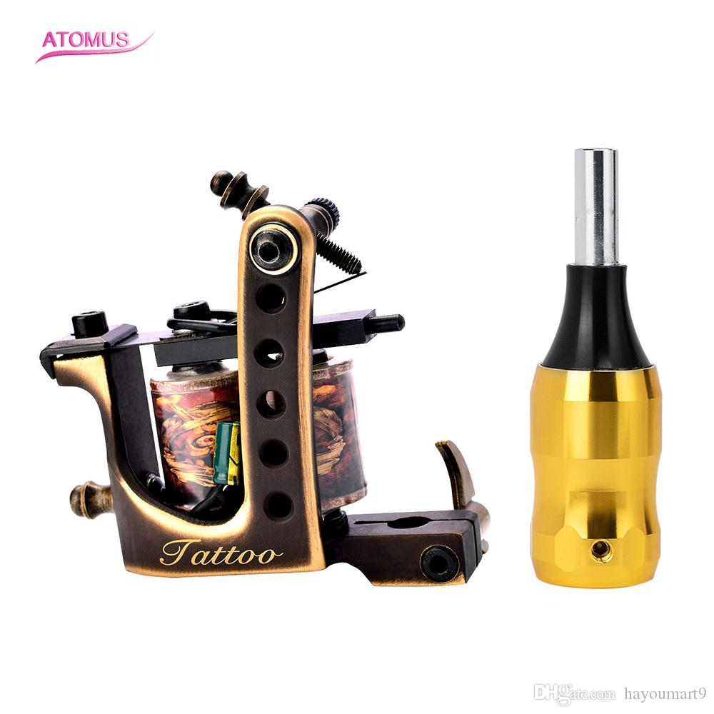 10 Wrap Coil Machine Gun Tattoo Machine Set Grip Professional Tattoo Accessory Machines Set Grip Professional Tattoo Accessory