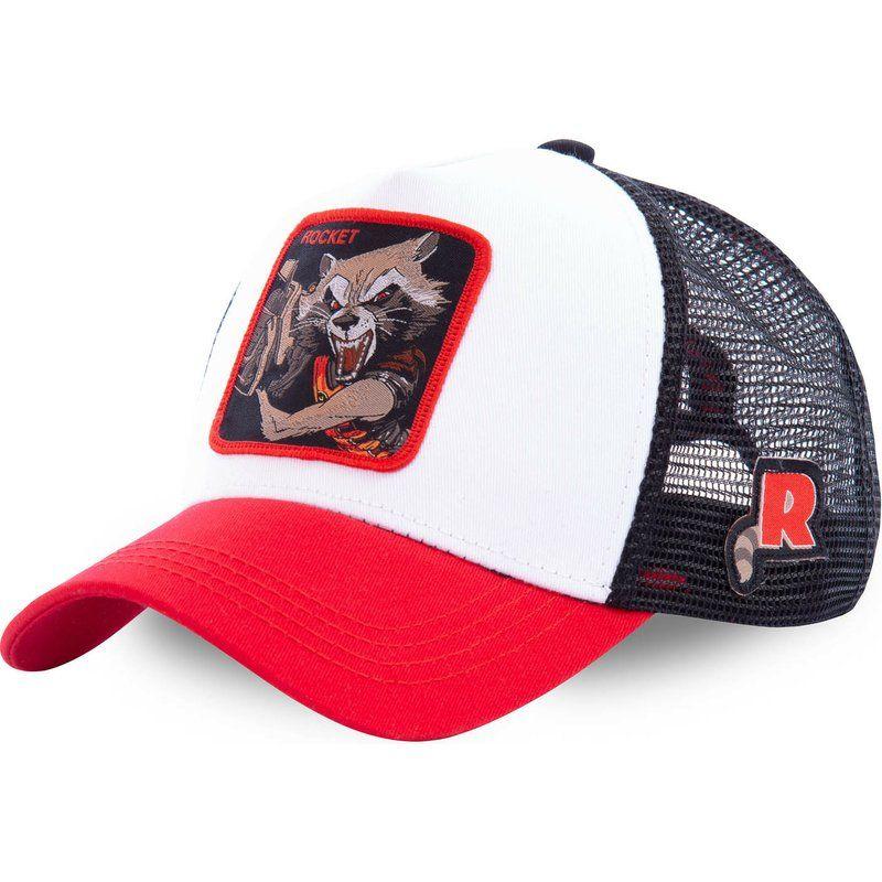 Марвел супергерой ракеты крышки snapback хлопок бейсболки Мужчины Женщины хип-хоп шляпа водителя грузовика шляпа сетки папа дропшиппинг