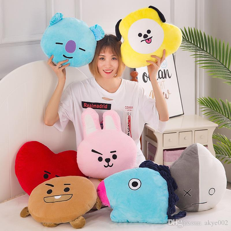 Hot Sale 8 Style Bangtan Boys BTS BT21 Plush Pillow Toy For Child Holiday Gifts 30X40CM