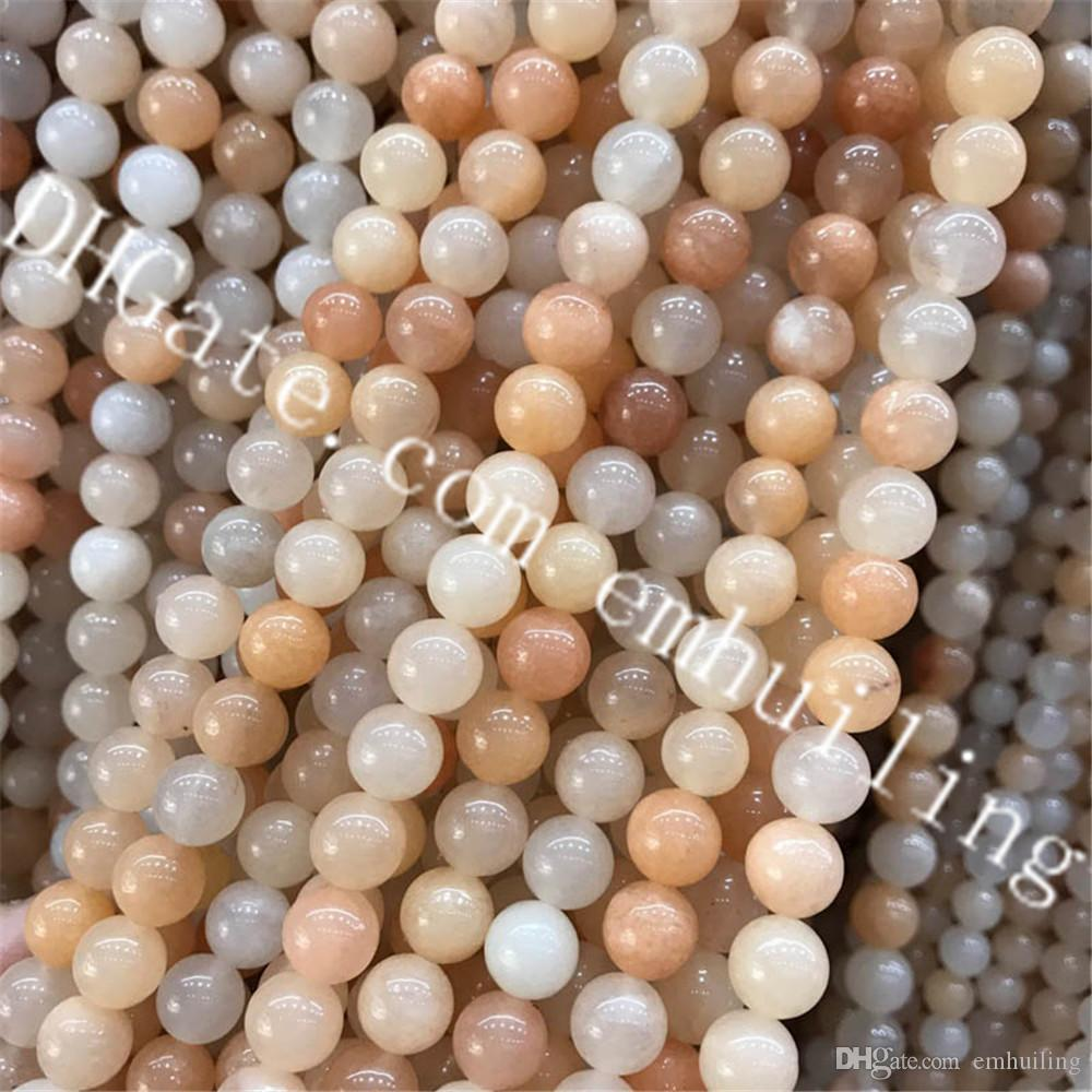 Wholesale Gorgeous Natural Smooth Round Stone Pink Aventurine Gems 4mm 6mm 8mm 10mm 12mm Loose Beads 10 Full Strands For DIY Jewelry Making