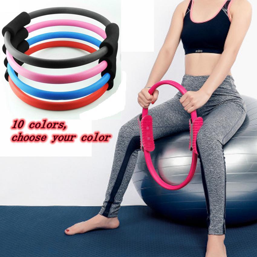 Aptitud profesional Pilates Adelgazamiento Magic Yoga Ring Durable Pilates Fitness Circle Yoga Accesorio Gimnasio Equipo de entrenamiento ZZA1129 -1