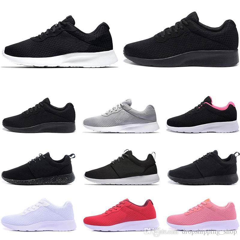 2020 저렴한 Tanjun 실행 남성 여성 검은 색 낮은 가볍고 통기성 런던 올림픽 스포츠 운동화 트레이너 야외 크기 36-45를 신발을 실행