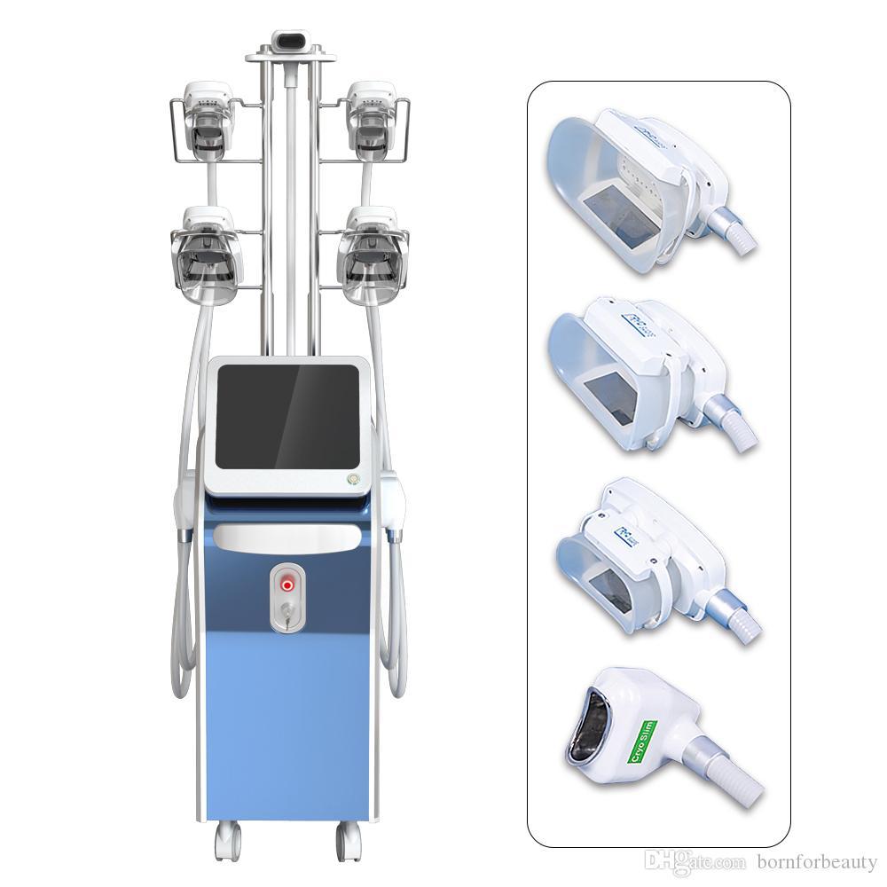 Fat Freeze Slimming Machine 5 Fettgefriergriffe Vakuum-Schlankheitsmaschine 4 Griffe können gleichzeitig arbeiten